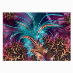 Feather Fractal Artistic Design Large Glasses Cloth (2 Side) by BangZart