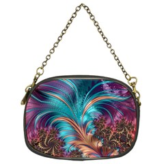 Feather Fractal Artistic Design Chain Purses (two Sides)  by BangZart