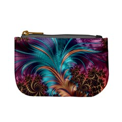 Feather Fractal Artistic Design Mini Coin Purses by BangZart