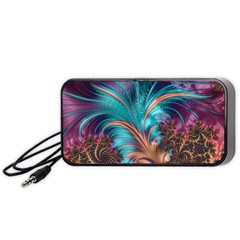 Feather Fractal Artistic Design Portable Speaker (black) by BangZart