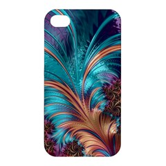 Feather Fractal Artistic Design Apple Iphone 4/4s Hardshell Case by BangZart