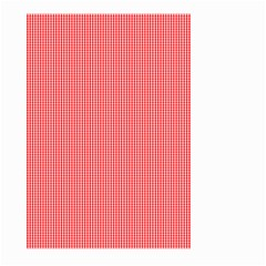 Christmas Red Velvet Mini Gingham Check Plaid Large Garden Flag (two Sides) by PodArtist