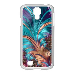 Feather Fractal Artistic Design Samsung Galaxy S4 I9500/ I9505 Case (white) by BangZart