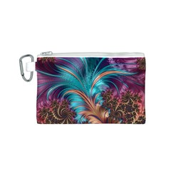 Feather Fractal Artistic Design Canvas Cosmetic Bag (s) by BangZart