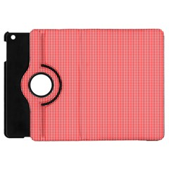 Christmas Red Velvet Mini Gingham Check Plaid Apple Ipad Mini Flip 360 Case by PodArtist