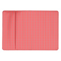 Christmas Red Velvet Mini Gingham Check Plaid Samsung Galaxy Tab 10 1  P7500 Flip Case by PodArtist