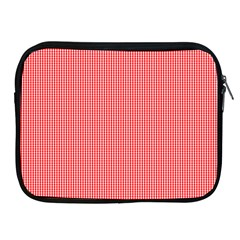 Christmas Red Velvet Mini Gingham Check Plaid Apple Ipad 2/3/4 Zipper Cases by PodArtist