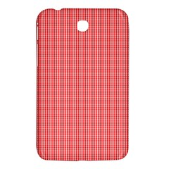 Christmas Red Velvet Mini Gingham Check Plaid Samsung Galaxy Tab 3 (7 ) P3200 Hardshell Case  by PodArtist