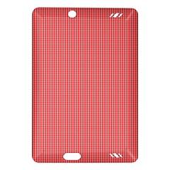 Christmas Red Velvet Mini Gingham Check Plaid Amazon Kindle Fire Hd (2013) Hardshell Case by PodArtist