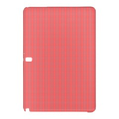 Christmas Red Velvet Mini Gingham Check Plaid Samsung Galaxy Tab Pro 12 2 Hardshell Case by PodArtist