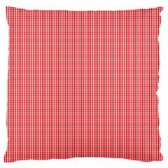 Christmas Red Velvet Mini Gingham Check Plaid Standard Flano Cushion Case (one Side) by PodArtist