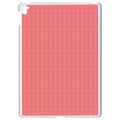 Christmas Red Velvet Mini Gingham Check Plaid Apple Ipad Pro 9 7   White Seamless Case by PodArtist