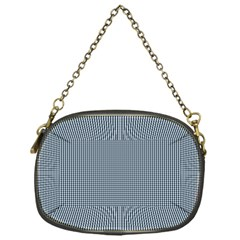Silent Night Blue Mini Gingham Check Plaid Chain Purses (one Side)  by PodArtist