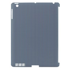 Silent Night Blue Mini Gingham Check Plaid Apple Ipad 3/4 Hardshell Case (compatible With Smart Cover) by PodArtist