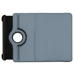 Silent Night Blue Mini Gingham Check Plaid Kindle Fire Hd 7  by PodArtist