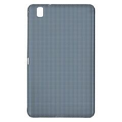 Silent Night Blue Mini Gingham Check Plaid Samsung Galaxy Tab Pro 8 4 Hardshell Case by PodArtist