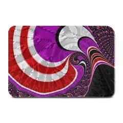 Fractal Art Red Design Pattern Plate Mats by BangZart