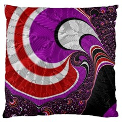 Fractal Art Red Design Pattern Large Cushion Case (two Sides) by BangZart