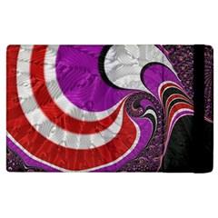 Fractal Art Red Design Pattern Apple Ipad 2 Flip Case by BangZart
