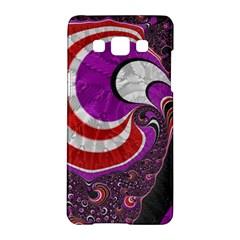 Fractal Art Red Design Pattern Samsung Galaxy A5 Hardshell Case  by BangZart