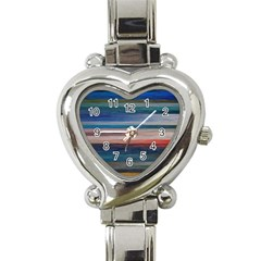 Background Horizontal Lines Heart Italian Charm Watch by BangZart
