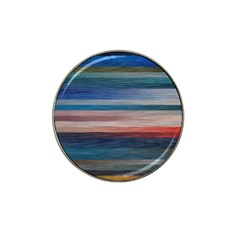 Background Horizontal Lines Hat Clip Ball Marker (4 Pack) by BangZart