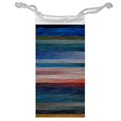 Background Horizontal Lines Jewelry Bag by BangZart