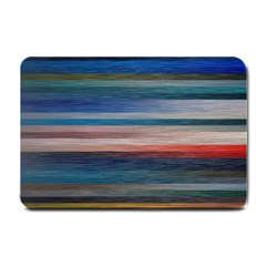 Background Horizontal Lines Small Doormat  by BangZart