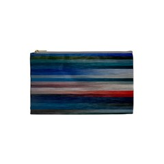Background Horizontal Lines Cosmetic Bag (small)  by BangZart