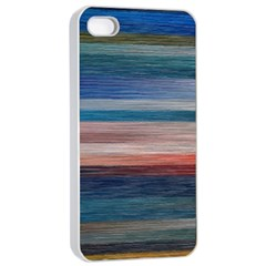 Background Horizontal Lines Apple Iphone 4/4s Seamless Case (white) by BangZart