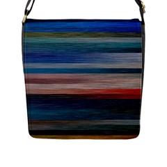 Background Horizontal Lines Flap Messenger Bag (l)  by BangZart