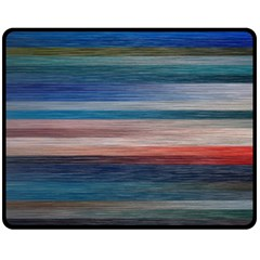 Background Horizontal Lines Double Sided Fleece Blanket (medium)  by BangZart