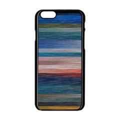 Background Horizontal Lines Apple Iphone 6/6s Black Enamel Case by BangZart