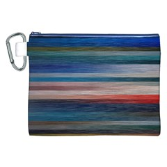 Background Horizontal Lines Canvas Cosmetic Bag (xxl) by BangZart