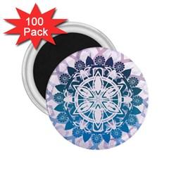 Mandalas Symmetry Meditation Round 2 25  Magnets (100 Pack)  by BangZart