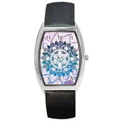 Mandalas Symmetry Meditation Round Barrel Style Metal Watch by BangZart