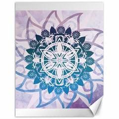 Mandalas Symmetry Meditation Round Canvas 18  X 24   by BangZart