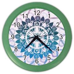 Mandalas Symmetry Meditation Round Color Wall Clocks by BangZart