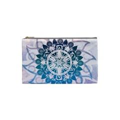 Mandalas Symmetry Meditation Round Cosmetic Bag (small)  by BangZart