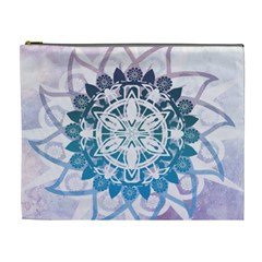 Mandalas Symmetry Meditation Round Cosmetic Bag (xl) by BangZart