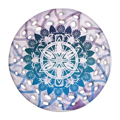 Mandalas Symmetry Meditation Round Round Filigree Ornament (two Sides) by BangZart
