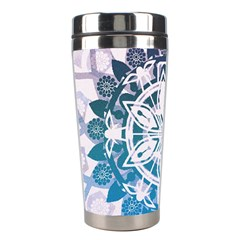 Mandalas Symmetry Meditation Round Stainless Steel Travel Tumblers by BangZart