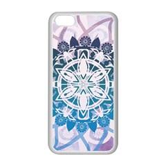 Mandalas Symmetry Meditation Round Apple Iphone 5c Seamless Case (white) by BangZart