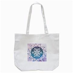 Mandalas Symmetry Meditation Round Tote Bag (white) by BangZart