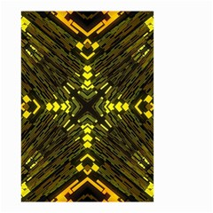Abstract Glow Kaleidoscopic Light Small Garden Flag (two Sides) by BangZart