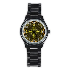 Abstract Glow Kaleidoscopic Light Stainless Steel Round Watch by BangZart
