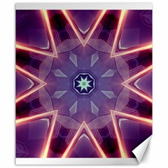 Abstract Glow Kaleidoscopic Light Canvas 20  X 24   by BangZart