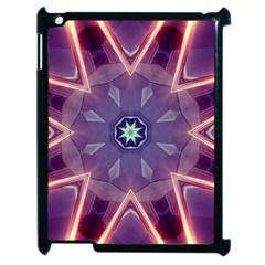 Abstract Glow Kaleidoscopic Light Apple Ipad 2 Case (black) by BangZart