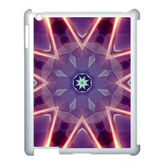 Abstract Glow Kaleidoscopic Light Apple Ipad 3/4 Case (white) by BangZart