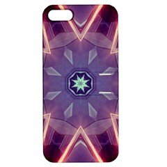 Abstract Glow Kaleidoscopic Light Apple Iphone 5 Hardshell Case With Stand by BangZart